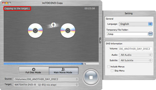 How to copy a DVD on Mac OS with ImTOO DVD Copy for Mac
