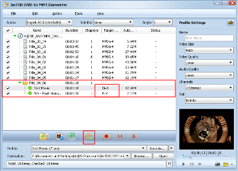 ImTOO DVD to MP4 Converter Guide - Add a new profile