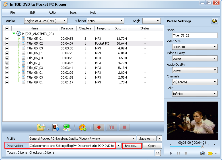 ImTOO DVD to MP4 Converter.