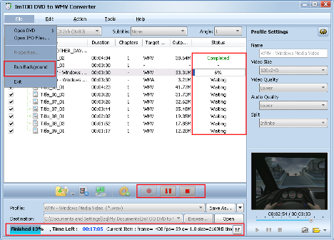 ImTOO DVD to WMV Converter Guide - Extract file