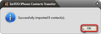 importazione contatti