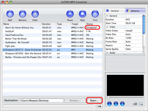 ImTOO MP4 Converter for Mac